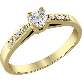 Μονόπετρο δαχτυλίδι Κ18 χρυσό με διαμάντι κοπής brilliant - MBR078G 8543641fda6
