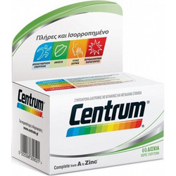 Centrum A-Zinc With Lutein 60s