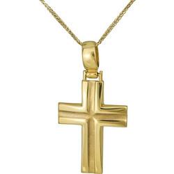 Βαπτιστικοί Σταυροί με Αλυσίδα Σταυρός χρυσός Κ9 με αλυσίδα 026799C 026799C  Ανδρικό Χρυσός 9 Καράτια d86d278669f