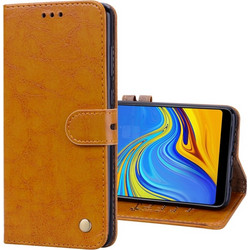 Business Style Oil Wax Texture Horizontal Flip Leather Case for Samsung Galaxy A9 (2018)