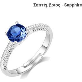 Δαχτυλίδι Philip Jones με Γενέθλια Πέτρα Σεπτέμβριος από Swarovski(R) 0a5e8e4050b