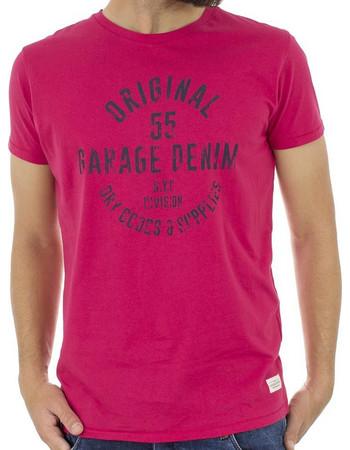 Ανδρικό Κοντομάνικη Μπλούζα T-Shirt Garage55 GAM215-04118 Rose Red ad8fd3388cd