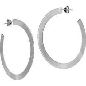 Χειροποίητα ασημένια 925 σκουλαρίκια κρίκοι με επιπλατίνωμα SK-1392L1 98db0abba05