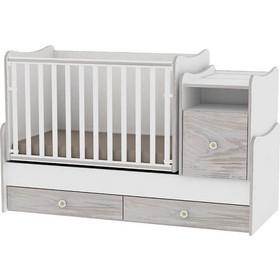 49c95373aa4 Bertoni Lorelli Trend Plus Πολυμορφικό Κρεβάτι - White Artwood