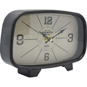 Ρολόι Επιτραπέζιο Αντικέ Μαύρο - Γκρι 789047 20x5x14υψ Ankor aaa86a89e0c