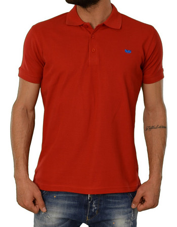 77b29e5c0441 Ανδρική Polo Μπλούζα Green Wood Κόκκινο 900671D