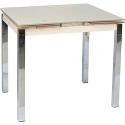 Τραπέζι Δείπνου Ανοιγόμενο Varossi Glamour 80 Κρεμ 80(120)x65x75 deea180b659