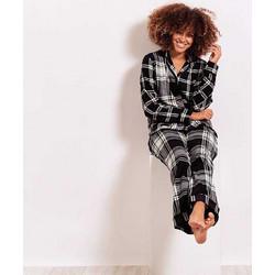 e96cdf1a6c2015 Πυτζάμα fleece κουμπί To Good to Give DKNY YI2119328 - μαύρο