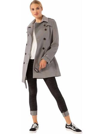 Παλτό σε στυλ καπαρντίνας με ζώνη και πλαϊνές τσέπες - Γκρι e2cb8f67123