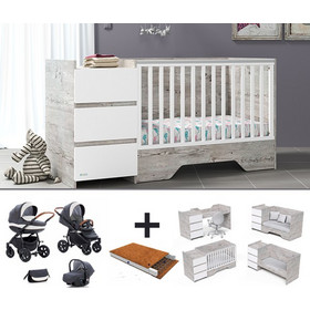 229cb4a5a3a Casababy combo deal με βρεφικό καρότσι 3 σε 1, στρώμα και προίκα 3 τεμ