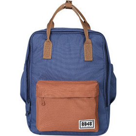 760f58f9e6 8848 SOLID BACKPACK UP TO 14 BLUE and BROWN - (003-008-021