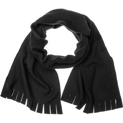 Κασκόλ μαύρο fleece με κρόσια 032bbb01adb