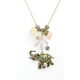 Κολιέ χειροποίητο με αλυσίδα και μενταγιόν Ελέφαντας 0877af0e88c