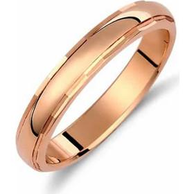 Βέρα Κλασική Πομπέ Ροζ Χρυσός 9Κ - sx.235k9r b47edf75451
