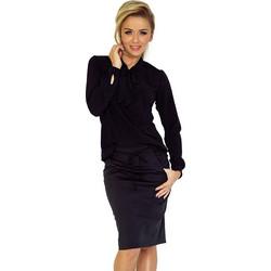 4250da362249 70136 NU Γυναικεία μπλούζα με δέσιμο στο λαιμό - Μαύρο