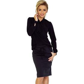 625085f5d751 70136 NU Γυναικεία μπλούζα με δέσιμο στο λαιμό - Μαύρο