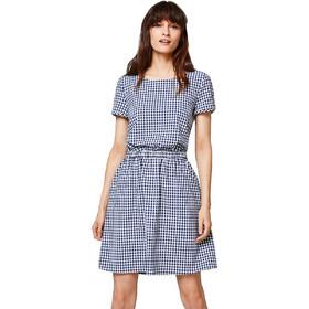0ee214aa625 Γυναικείο καρό φόρεμα με λάστιχο στη μέση και άνοιγμα στην πλάτη Esprit -  028EE1E008 - Μπλε