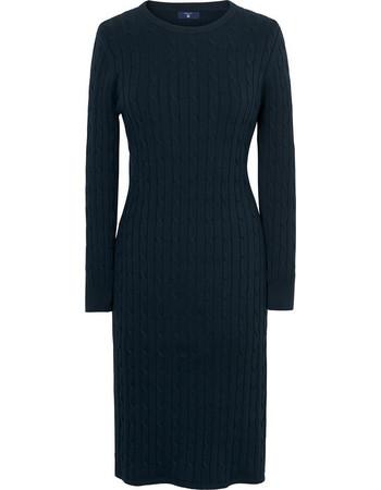 dc412bbc5974 Γυναικείο πλεκτό φόρεμα GANT - 450942 - Μπλε Σκούρο