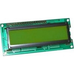 DISPLAY LCD CHARACTER 2X16 ΜΕ ΦΩΤΙΣΜΟ ΠΡΑΣ.(GRK) 80X36mm ZTL ACM1602K-FL-YBW-03