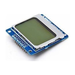 1.6 Nokia 5110 LCD Module w/ Blue Backlit for Arduino (Works with Official Arduino Boards)