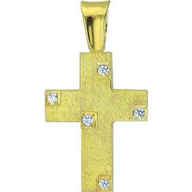 Σταυρός 14 Καράτια Χρυσό Με Ζιρκόν 364e80048a8