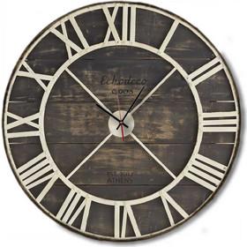 Vintage - Χειροποίητο Ρολόι τοίχου White Metallic Skeleton Echo Deco Clocks a38f9f18826
