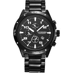 e20c7053854 Αδιάβροχο Ρολόι Χειρός Curren 8021 Waterproof Men's Round Dial Quartz Wrist  watch with Stainless Steel Band