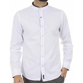 eb97c6926399 Ανδρικό Μάο Μακρυμάνικο Πουκάμισο Slim Fit CND Shirts 3550-4 Λευκό