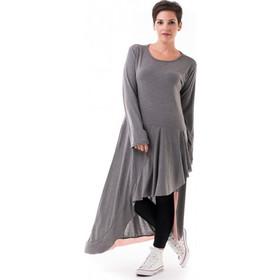 1591e4eeb292 Γκρι Φόρεμα με Ουρά   Βολάν Ροζ