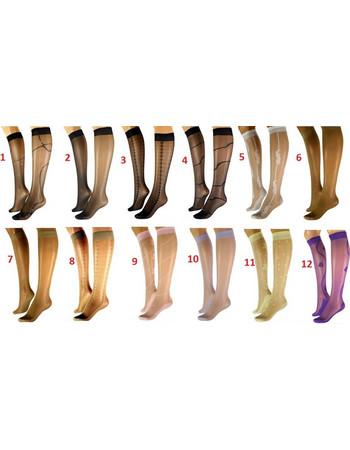 Γυναικείες κάλτσες-γόνατο με σχέδιο 6108-8813 d515a8ed558