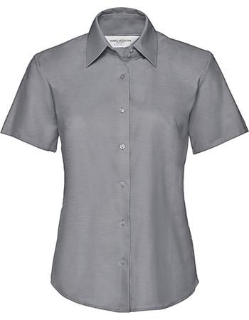 863d1ddf79b6 Γυναικείο πουκάμισο Oxford Russell R-933F-0 - Silver