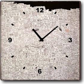 Notes - Ρολόι τοίχου Ξύλινο Χειροποίητο Τετράγωνο 32cm T3203 e9b0c045048