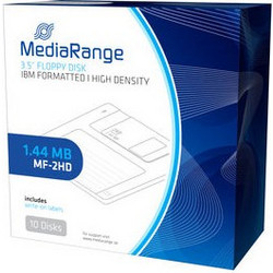 MEDIA RANGE MR200 FLOPPY DISKETTES 1,44Mb BLACK (10 PACK) DISKETES ΔΙΣΚΕΤΕΣ