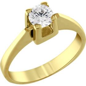 Μονόπετρο δαχτυλίδι Κ18 χρυσό με διαμάντι κοπής brilliant - MBR081G f275e5f4a92