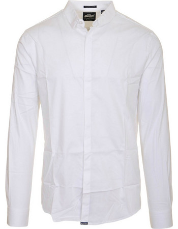 SUPERDRY M TAILORED L S SLIM SHIRT - M40003QP-IY9 WHITE 2fcd7f19661