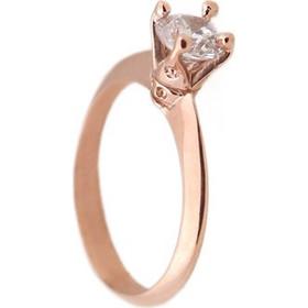 Jt Μονόπετρο δαχτυλίδι με ροζ χρυσό 14Κ και ζιργκόν 5mm 5eb6d007696