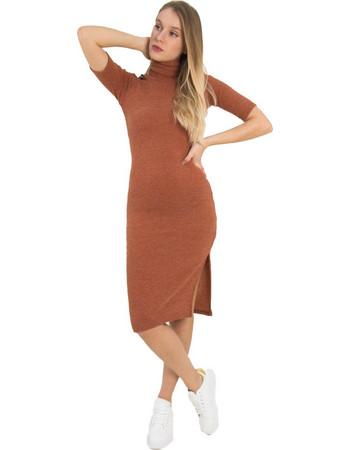 Γυναικείο εκάι ριπ μάλλινο φόρεμα Cocktail 014100072G 0b59529094f