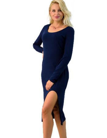 Φόρεμα midi με άνοιγμα μπροστά. First Woman 42f949a20dd