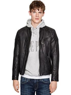 2dd91b5a6a Pepe Jeans Damascus  Leather Biker Jacket PM401950-999