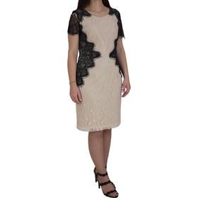d1c165b1fc12 Φόρεμα Με Δαντέλα Vagias 9666-52 Μπεζ vagias 9666-52 mpez