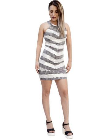 73964e5a175b LYNNE 140-511037 Φόρεμα Ασπρό-μαυρο Lynne