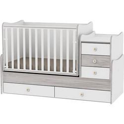 0fbd29b073c Κρεβάτι Maxi + Μετατρεπόμενο Πολυμορφικό White/Artwood Lorelli 10150300030A  (ΔΩΡΟ στρώμα Havana Lorelli 62