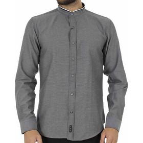 d6ba9625b4eb Ανδρικό Μάο Μακρυμάνικο Πουκάμισο Slim Fit CND Shirts 3550-3 σκούρο Γκρι
