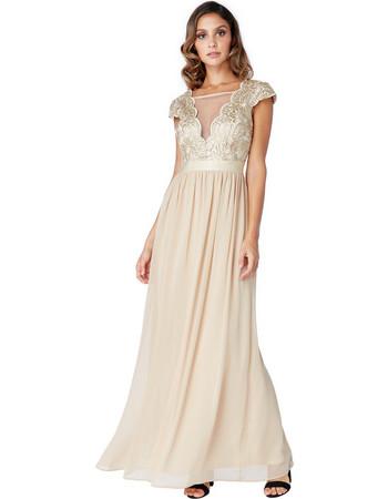 delicate bridal V tulle champagne gold φόρεμα 14a0f221dfc