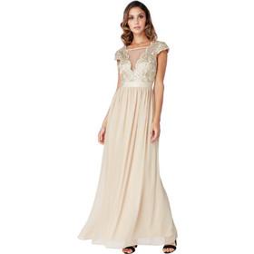 fb6e3430b91 delicate bridal V tulle champagne gold φόρεμα