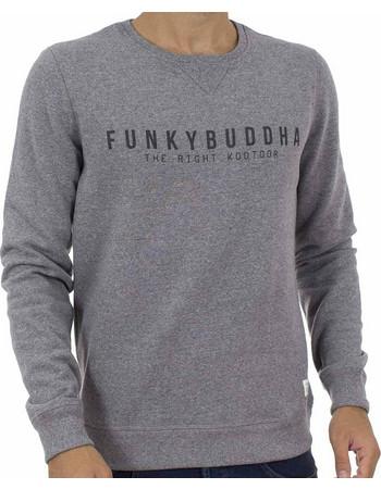 Ανδρικό Μπλούζα Φούτερ FUNKY BUDDHA FBM015-06218 Γκρι 7528f220a5d