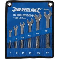 Γερμανικά Κλειδιά CR-V Silverline 380424 Σετ 6 τεμαχίων 6-17mm da307e496ad