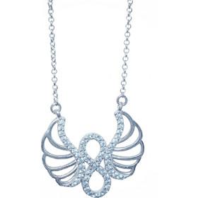 Κολιέ φτερό με άπειρο - Ασήμι 925 96e621bbcd1