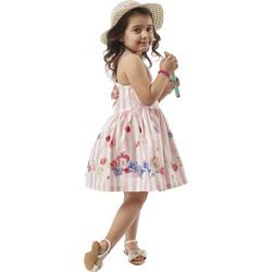 2e81d33517a7 Κορίτσι 1-6 φόρεμα ΕΒΙΤΑ ροζ λευκό ριγέ 198246