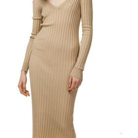 ce2f63b3559 TOI & MOI Πλεκτό φόρεμα ριπ 50-3968-19 ΚΑΜΗΛΟ SM Toi & Moi